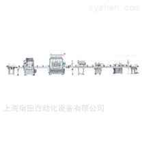 全自動直線式灌裝貼標生產線
