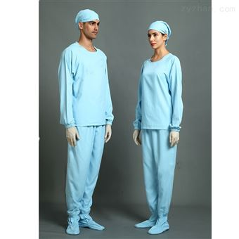 8-1B11W\\8-1B12W圆领套头连袜内服蓝色洁净服