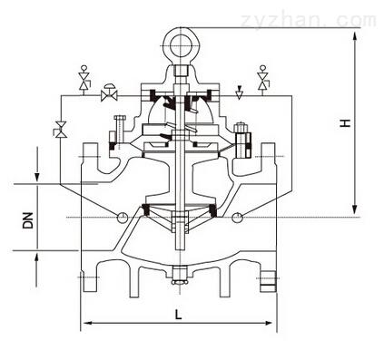 200P-10T/16T减压阀结构图片