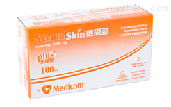 Second Skin® 乳胶检查手套,无粉