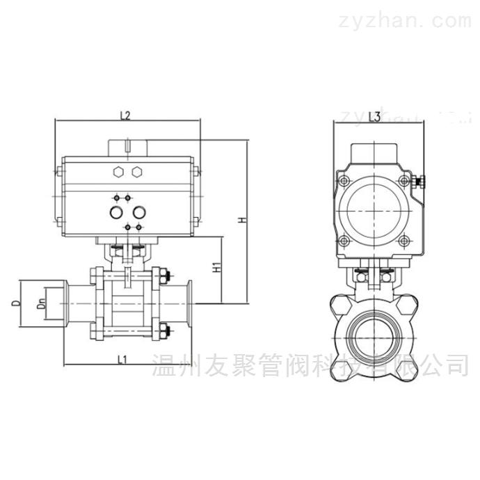 三片式螺紋球閥