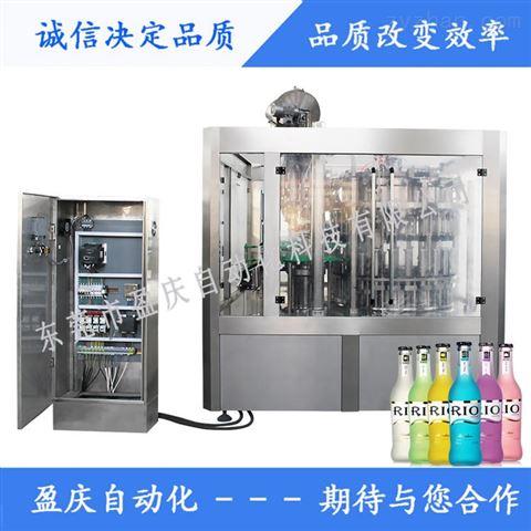 玻璃瓶鸡尾酒冲洗灌装压盖三合一旋转式灌装机