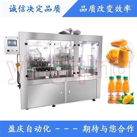 YQ-24瓶装芒果汁不含汽饮料旋转式灌装机