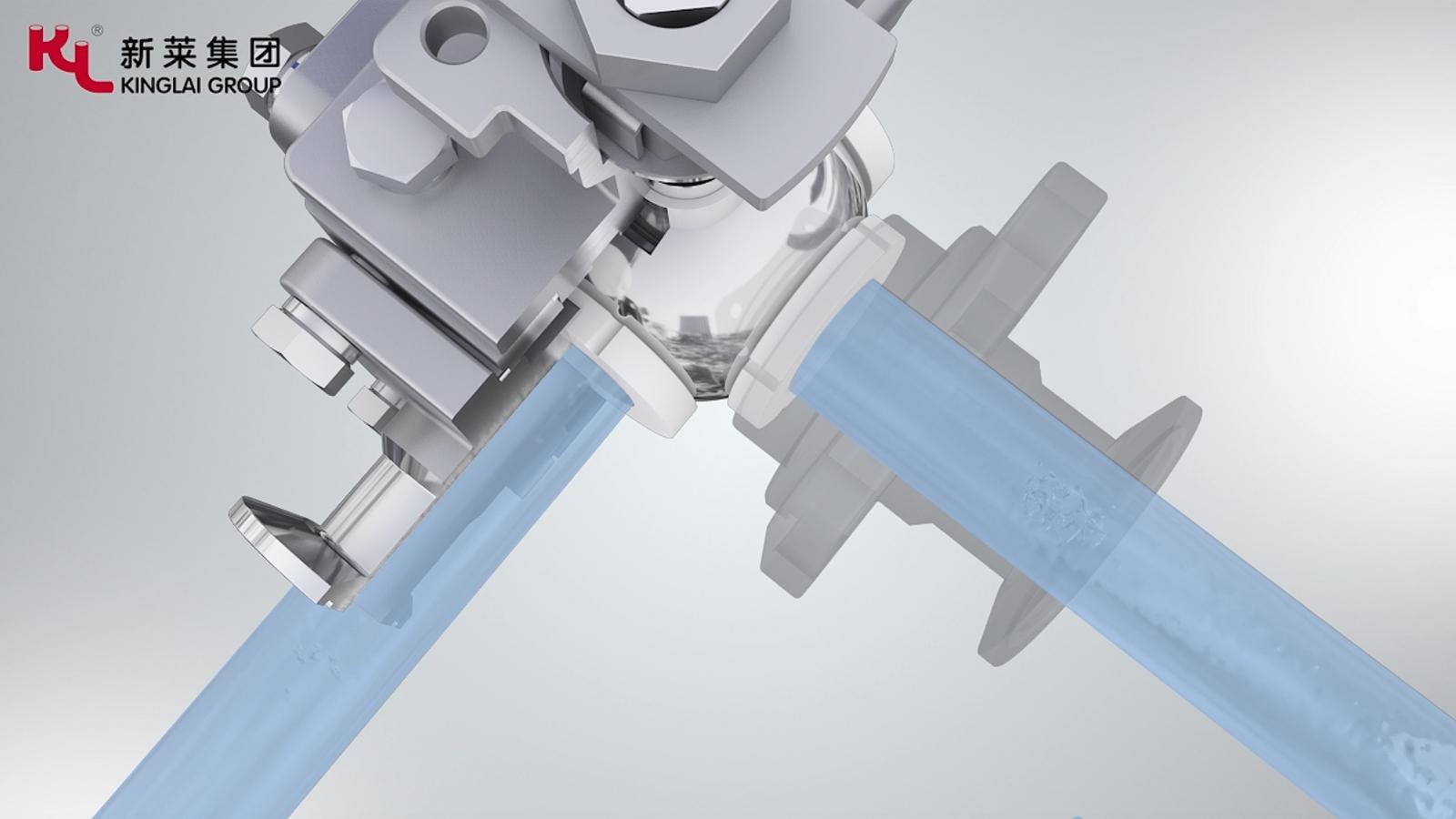 新莱集团:卫生级球阀3D动画展示